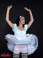 Gorgeous Bryoni-Kate Williams in an sexy Alice in Wonderland adventure - Granny Girdles