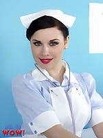 Saucy nurse Jocelyn-Kay is healing you with a striptease - Granny Girdles